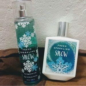 Bath & Body Works FRESH SPARKLING SNOW set